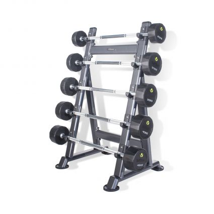 5 Pair PU Barbells Sets with Racks