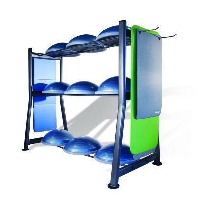 BOSU® Rack with 9 BOSU® Balance Trainers