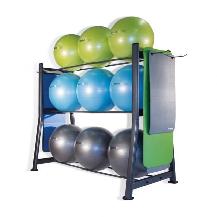 9 Stability Ball / Bosu® & Gym Mat Storage Rack (Empty)