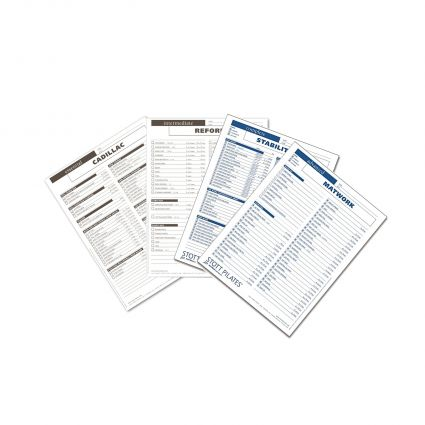 STOTT® Pilates - Client Workout Sheets