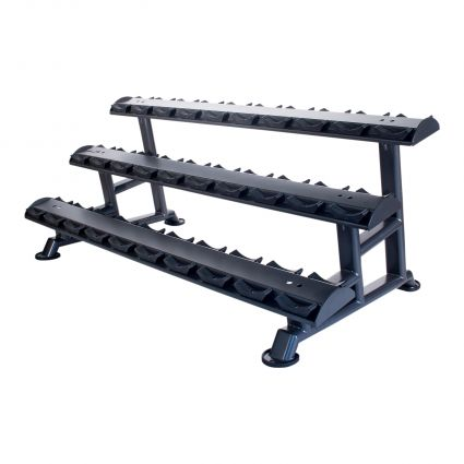 15 Pair Horizontal Dumbbell Saddle Rack (Empty)