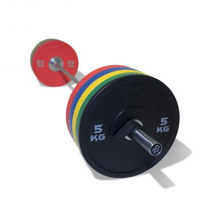 PU Competition Bumper Plate Barbell Set (170kg)