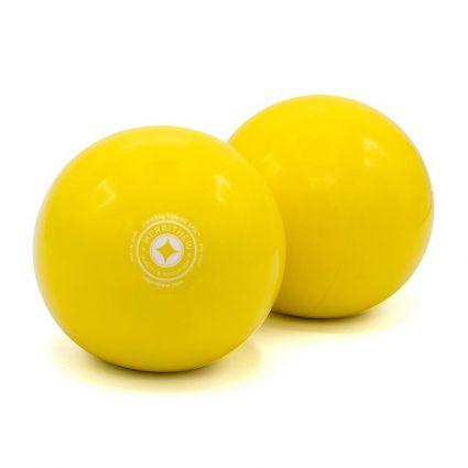STOTT® Pilates Toning Ball Two Pack (2 x 2lb) - Lemon