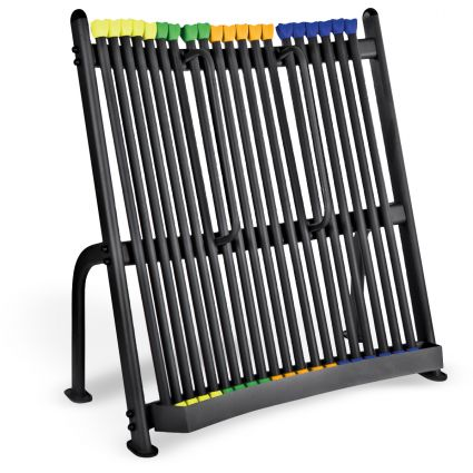 Upright Strength Bar Rack with 30 Strength Bars