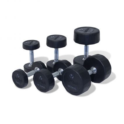 TuffTech Rubber Dumbbells (Pair)