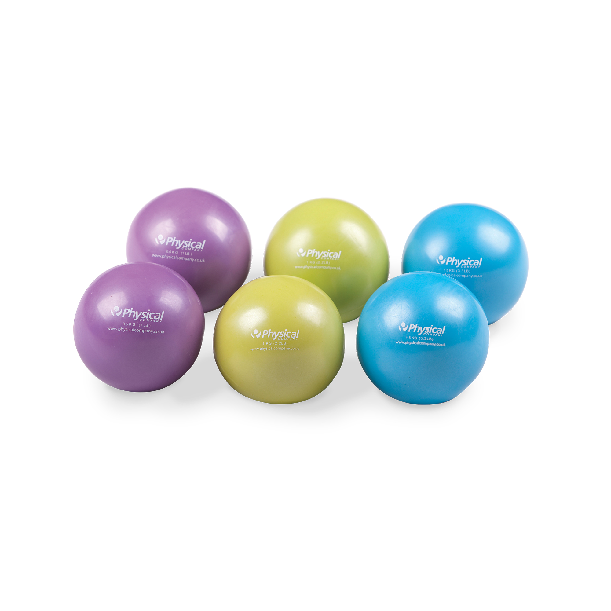 weighted soft pilates balls  pair