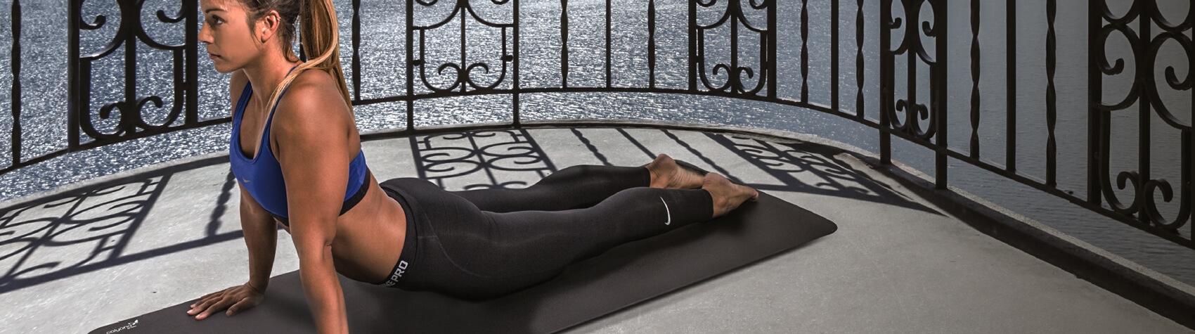 Full range of exercise mats